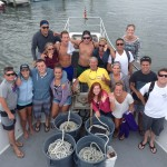 group of men and women on an Ocean City charter boat