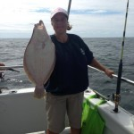Flounder caught on an Ocean City fishing boat