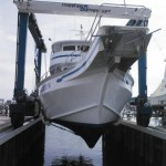 Ocean City charter on a boat lift